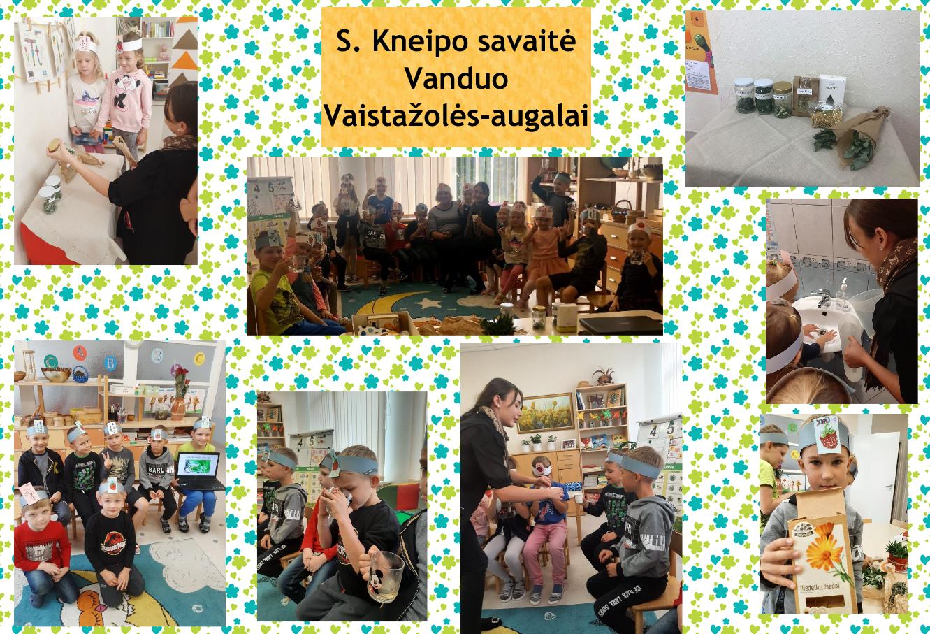 S. Kneipo savaitė Vanduo Vaistažolės-augalai