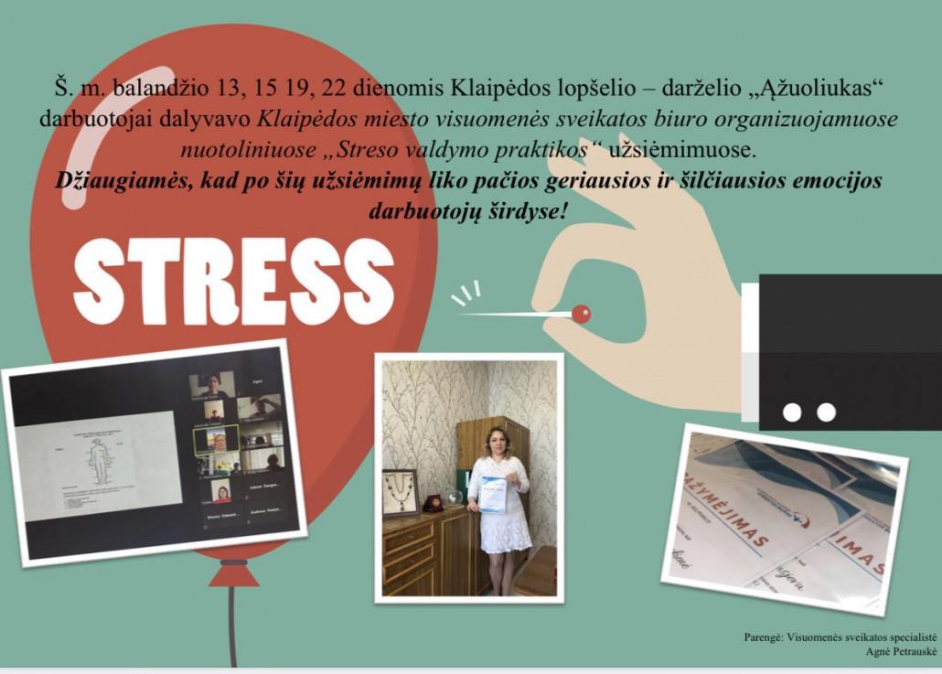 Streso valdymo praktiniai užsiėmimai